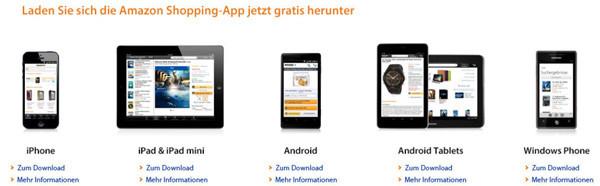 Amazon App Geräteübersicht
