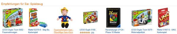 Amazon Empfehlungen